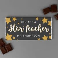 Personalised You Are A Star Teacher Milk Chocolate Bar